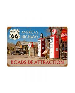 Americas Highway, Automotive, Vintage Metal Sign, 12 X 18 Inches