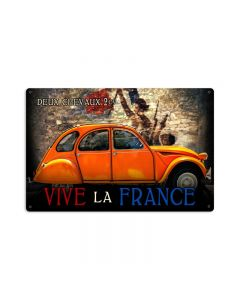 Deux Chevaux Large, , Vintage Metal Sign, 36 X 24 Inches