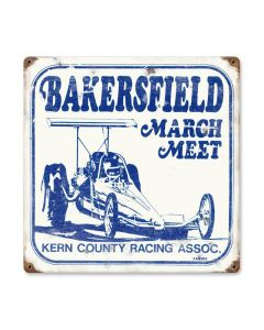 March Meet, Automotive, Vintage Metal Sign, 12 X 12 Inches