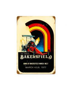 Bakersfield 19th, Automotive, Vintage Metal Sign, 18 X 12 Inches