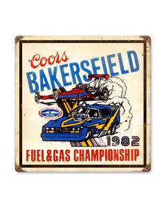 Bakersfield Coors, Automotive, Vintage Metal Sign, 12 X 12 Inches