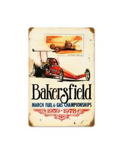 Bakersfield 59 to 78, Automotive, Vintage Metal Sign, 18 X 12 Inches