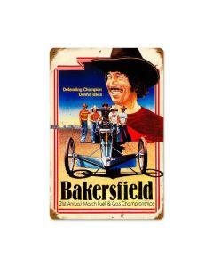 Bakersfield Baca, Automotive, Vintage Metal Sign, 18 X 12 Inches