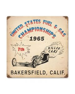 Bakersfield Killer Cars, Automotive, Vintage Metal Sign, 12 X 12 Inches