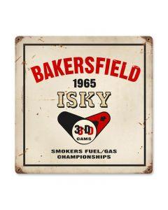 Bakersfield isky, Automotive, Vintage Metal Sign, 12 X 12 Inches