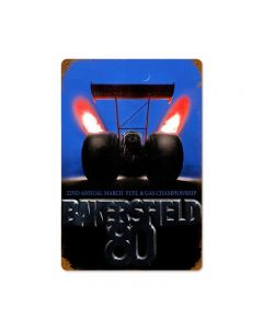 Bakersfield 80, Automotive, Vintage Metal Sign, 18 X 12 Inches