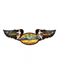 Memphis Belle, Aviation, Winged Oval Metal Sign, 10 X 35 Inches