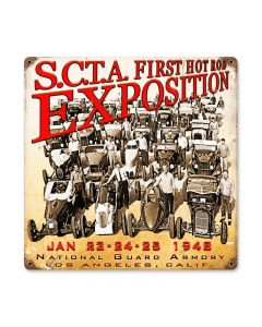 1948 Expo, Automotive, Vintage Metal Sign, 12 X 12 Inches