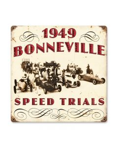 1949 Bonneville, Automotive, Vintage Metal Sign, 12 X 12 Inches