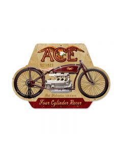 Ace, Motorcycle, Custom Metal Shape, 17 X 12 Inches