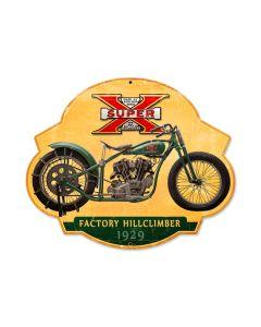 Super X Hillclimber, Motorcycle, Custom Metal Shape, 17 X 14 Inches