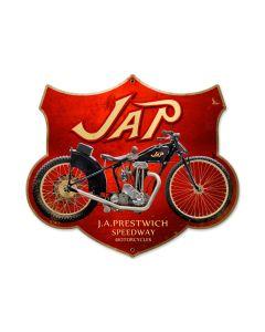 Jap Motorcycle, Motorcycle, Custom Metal Shape, 17 X 15 Inches