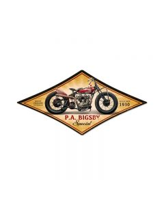 PA Bigsby, Motorcycle, Diamond Metal Sign, 22 X 14 Inches