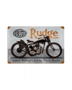 Basneys Rudge, Motorcycle, Vintage Metal Sign, 18 X 12 Inches