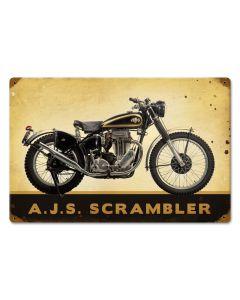 Bud Ekins, Motorcycle, Vintage Metal Sign, 18 X 12 Inches