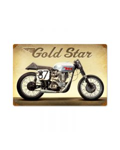 Goldstar, Motorcycle, Vintage Metal Sign, 18 X 12 Inches