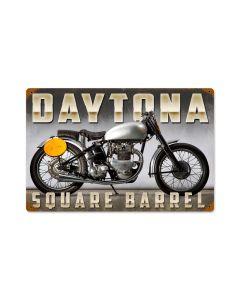 Daytona, Motorcycle, Vintage Metal Sign, 18 X 12 Inches