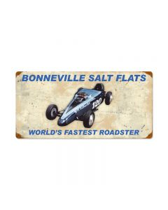 Bonneville Worlds Fastest Roadster, Automotive, Vintage Metal Sign, 24 X 12 Inches