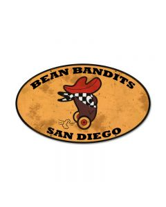 Bean Bandits, Automotive, Oval Metal Sign, 24 X 14 Inches