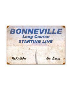 Bonneville Starting Line, Automotive, Vintage Metal Sign, 24 X 16 Inches