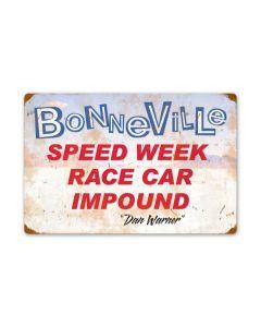 Bonneville Speed Week Race Car Impound, Automotive, Vintage Metal Sign, 24 X 16 Inches