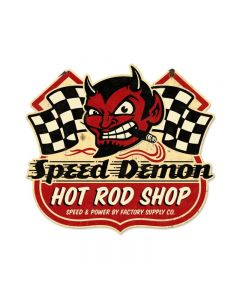 Speed Demon HRShop, Automotive, Shield Metal Sign, 27 X 24 Inches