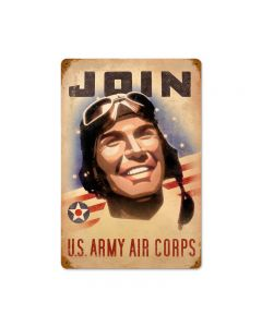 Join Army, Allied Military, Vintage Metal Sign, 12 X 18 Inches