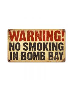 No Smoking, Humor, Vintage Metal Sign, 14 X 8 Inches