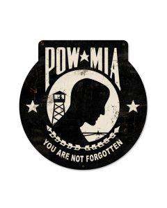 POW MIA, Allied Military, Custom Metal Shape, 16 X 16 Inches