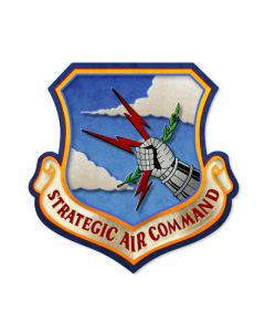 Strategic Air Command, Allied Military, Custom Metal Shape, 17 X 17 Inches