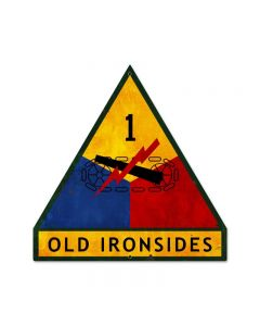 Old Ironsides, Allied Military, Custom Metal Shape, 16 X 16 Inches
