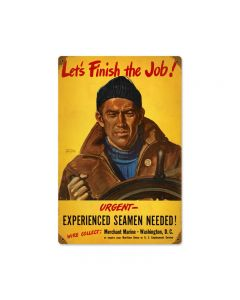 Finish The Job, Allied Military, Metal Sign, 12 X 18 Inches