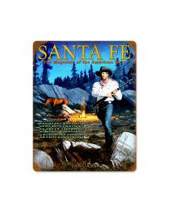 Santa Fe Ranger, Home and Garden, Vintage Metal Sign, 12 X 15 Inches