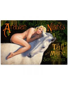 Arabian Nights, Pinup Girls, Metal Sign, 36 X 24 Inches