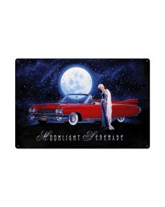 Moonlight Serenade, Pinup Girls, Custom Metal Shape, 36 X 24 Inches