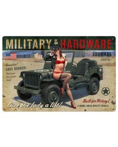Military Hardware Large, , , 36 X 24 Inches