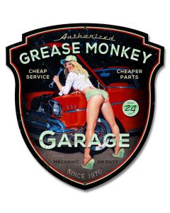 Grease Monkey XL, Featured Artists/American Beauties by Greg Hildebrandt, Plasma, 23 X 24 Inches