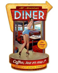 Diner, Featured Artists/American Beauties by Greg Hildebrandt, Plasma, 21 X 30 Inches