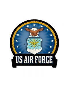 Air Force, Allied Military, Round Banner Metal Sign, 16 X 15 Inches