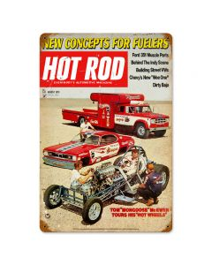August 1970 Cover, Automotive, Vintage Metal Sign, 12 X 18 Inches
