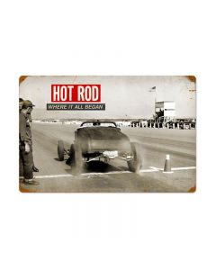 Roadster: Where It All Began, Automotive, Vintage Metal Sign, 24 X 16 Inches
