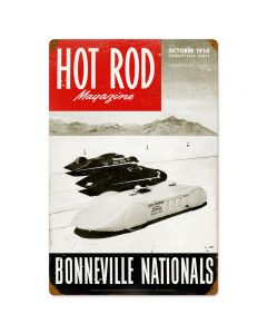Bonneville Nationals, Automotive, Vintage Metal Sign, 16 X 24 Inches