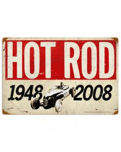 60th Anniversary, Automotive, Vintage Metal Sign, 16 X 24 Inches