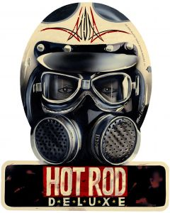 Hot Rod Deluxe, Automotive, Helmet Metal Sign, 12 X 15 Inches