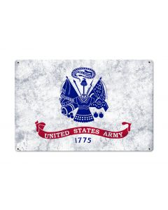 United States Army Flag, Armed Forces, Metal Sign, Optional Rustic Wood Frame, Wall Decor, Wall Art, Vintage, Rustic