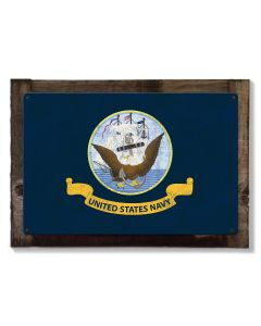 United States Navy Flag, Armed Forces, Metal Sign, Optional Rustic Wood Frame, Wall Decor, Wall Art, Vintage, Rustic