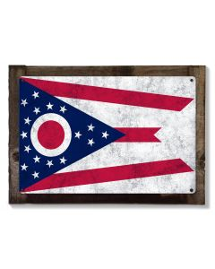 Ohio State Flag, First in Aviation, Metal Sign, Metal Sign, Optional Rustic Wood Frame, Wall Decor, Wall Art, FREE SHIPPING!