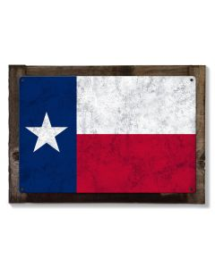 Texas State Flag, The Lone Star State, Metal Sign, Optional Rustic Wood Frame, Wall Decor, Wall Art, Vintage, Rustic, FREE SHIPPING!