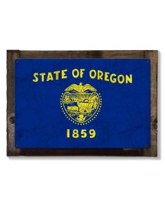 Oregon State Flag, We Love Dreamers, Metal Sign, Metal Sign, Optional Rustic Wood Frame, Wall Decor, Wall Art, FREE SHIPPING!