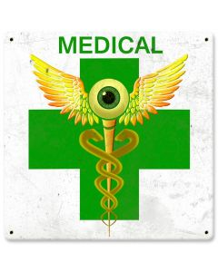 "Green Cross Medical Marijuana Dispensary Sign 12"" X 12"""